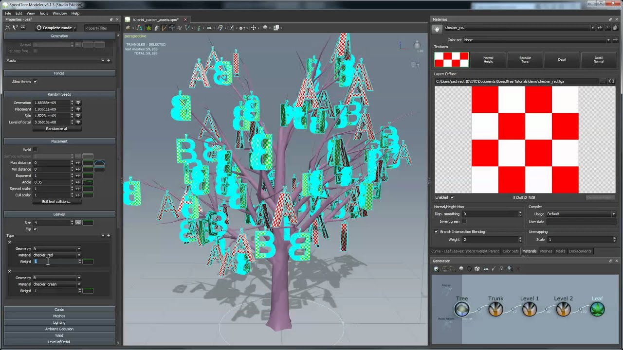 SpeedTree Tutorial: Using Custom Images and Meshes in the Modeler