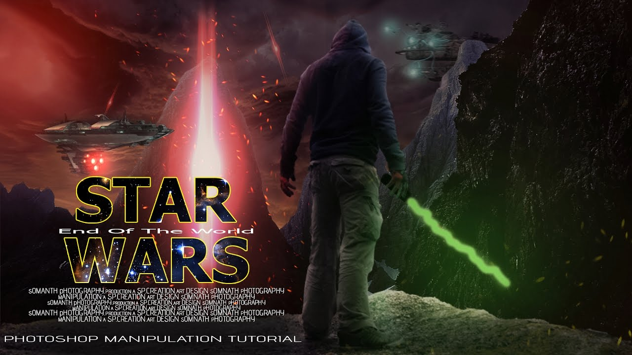 how to make movie poster star wars photoshop tutorial photo