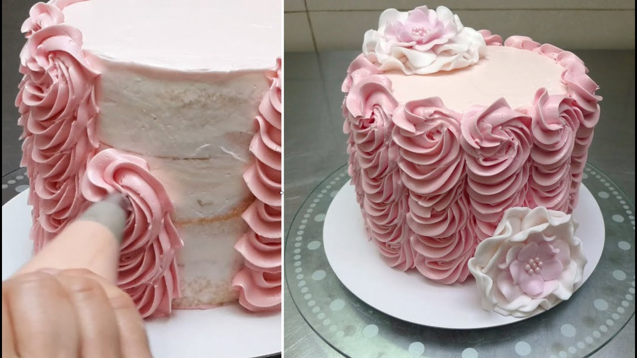Homemade Cake Icing Designs : Buttercream Cake Decorating. Fast and Easy Technique by ...