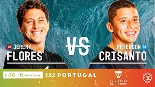 Jeremy Flores vs. Peterson Crisanto - Round of 32, Heat 11 - MEO Rip Curl Pro Portugal 2019