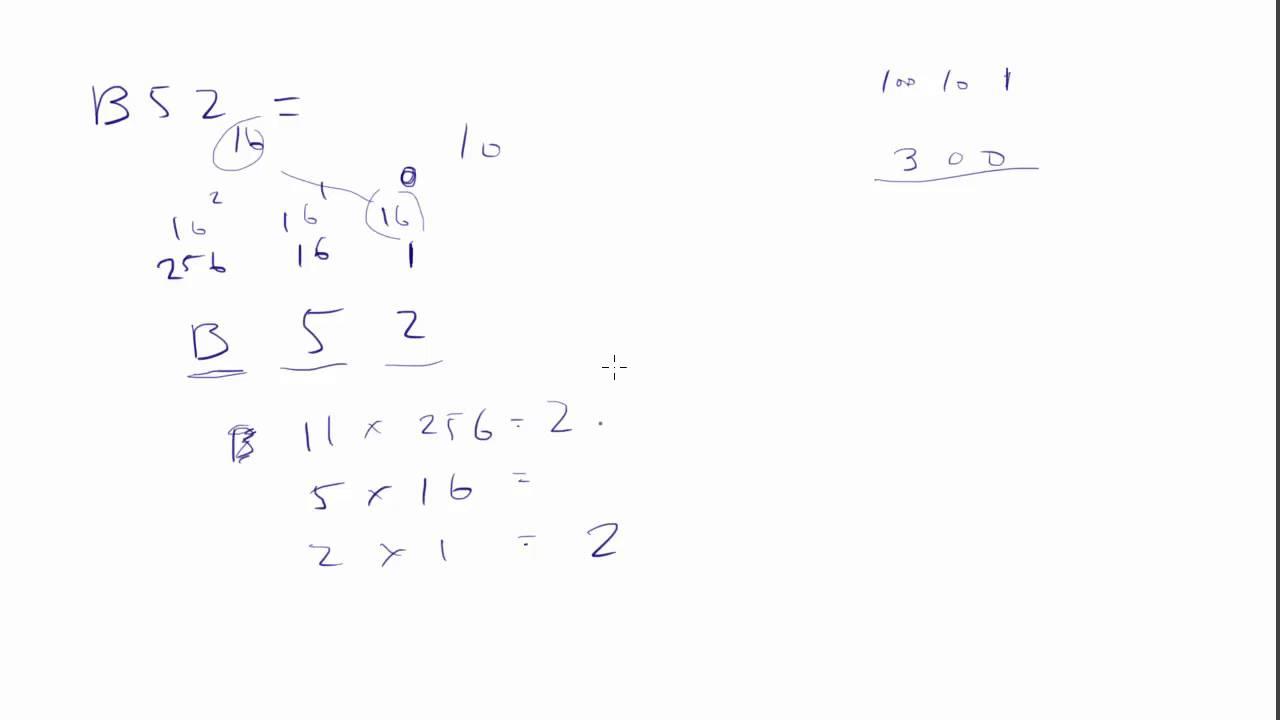 008 Convert Hexadecimal To Decimal Base 16 10