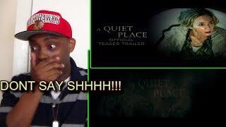 A Quiet Place Official Trailer #1 REACTION!!!