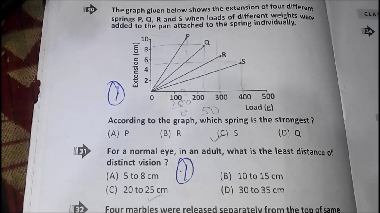 Class 8 (VIII) NSTSE questions Paper || National science Talent Search Exam