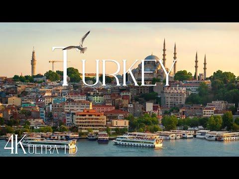 TURKEY 4K • Amazing Istanbul, Cappadocia, Pamukkale & Turkey natural beauty with Relaxing Music