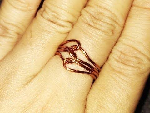 Simple 2 heart ring - Handmade Jewelry Ideas 44