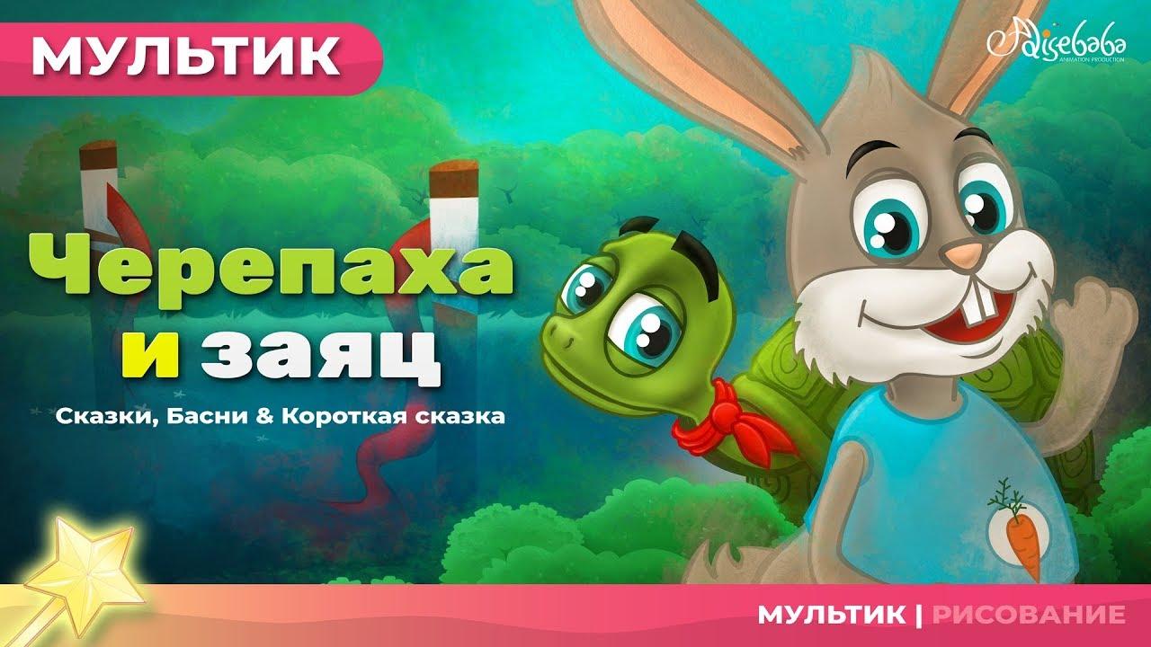 Черепаха и заяц   Сказки для детей и мультик - YouTube