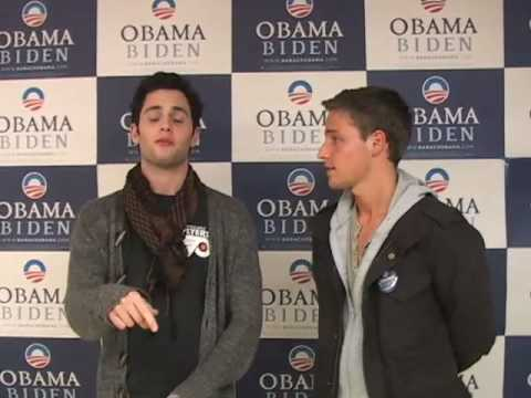 Shawn Pyfrom & Penn Badgley for Obama