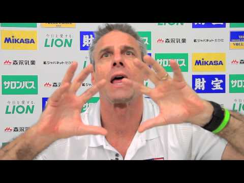 Karch Kiraly (USA Coach) about: The serve in the Women Volleyball