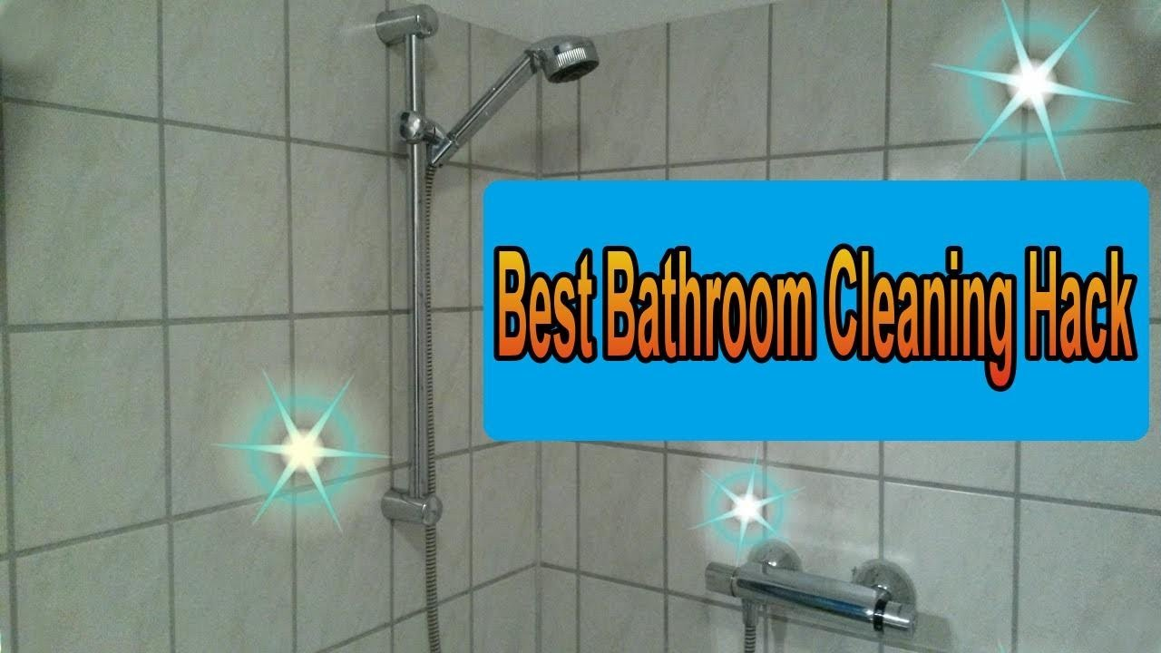 Genius Bathroom Cleaning Hack U2013 Cleaning Lifehacks For Bathroom And Shower  / DIY