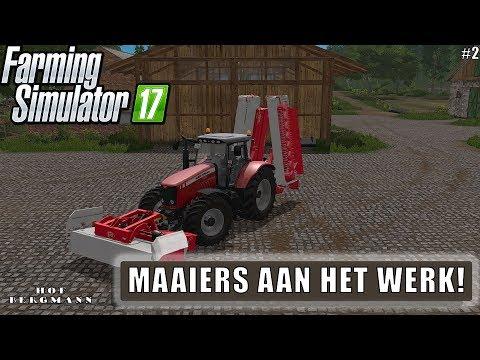 """""""MAAIERS AAN HET WERK!"""" FarmingSimulator 17 Hof Bergmann #2"""