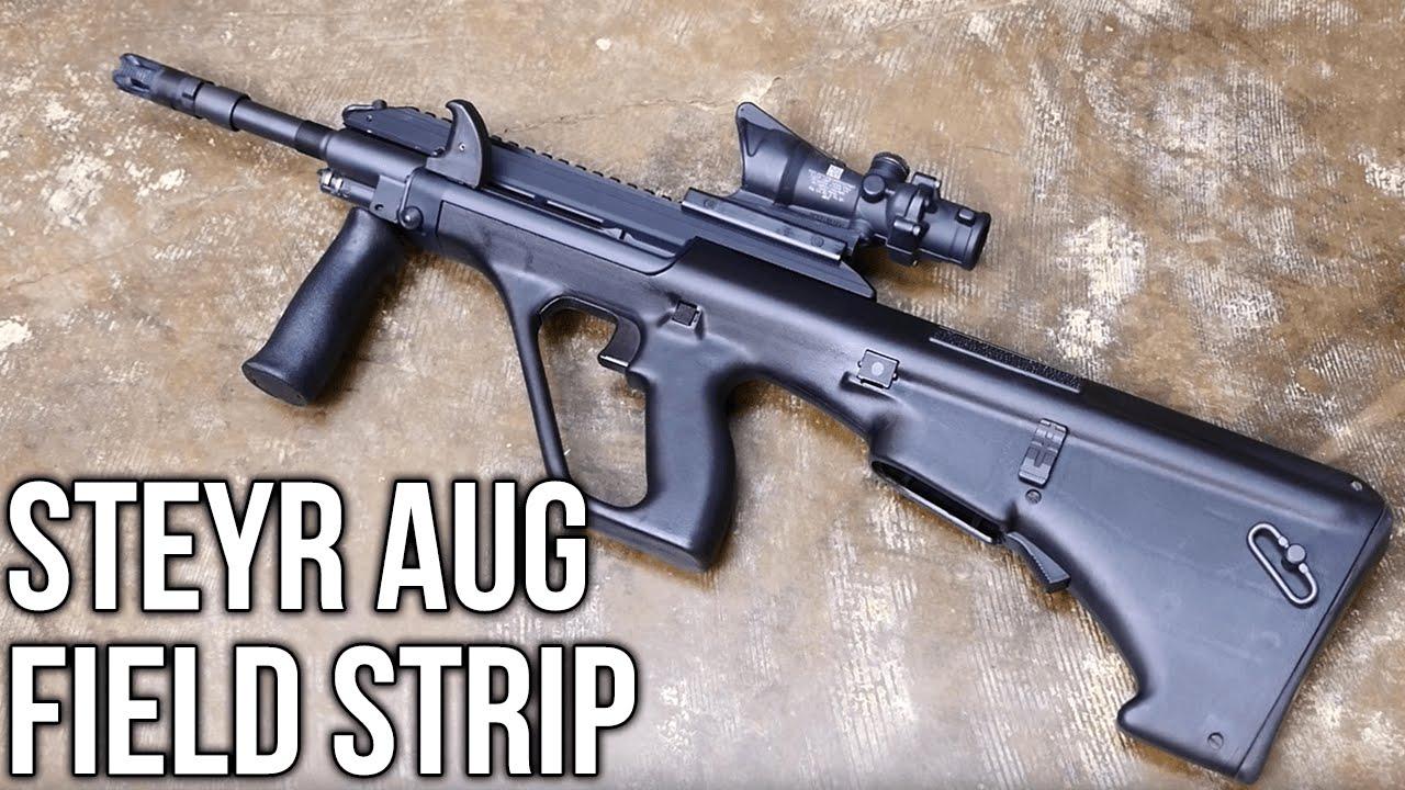 Steyr AUG Rifle Field Strip - YouTube