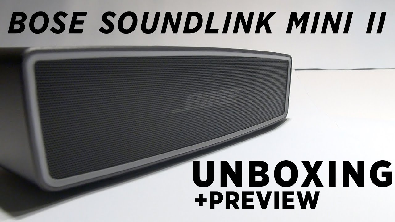 Bose SoundLink Mini II 2 Unboxing - Carbon & Pearl