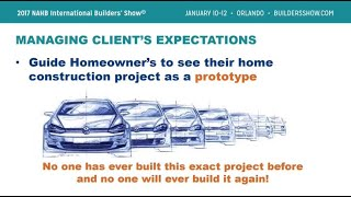 10 - Managing Client Expectations: Home Construction as a Prototype