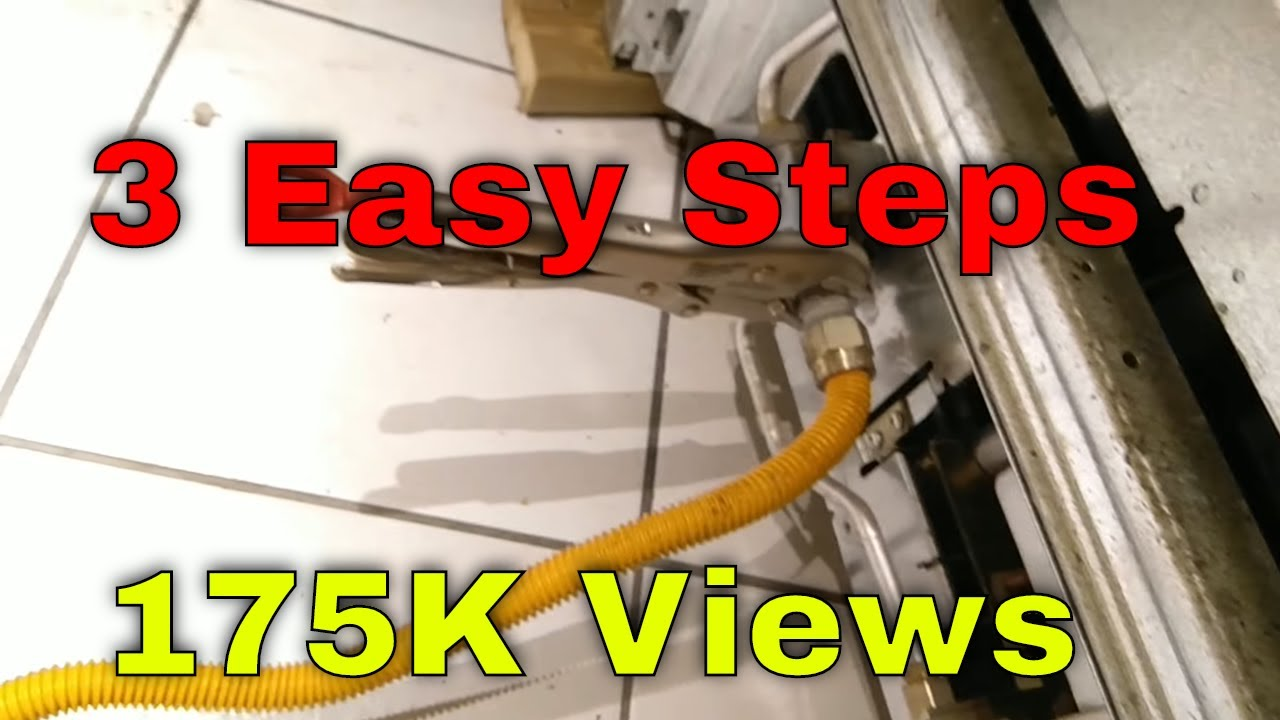 How to disconnect a gas stove YouTube
