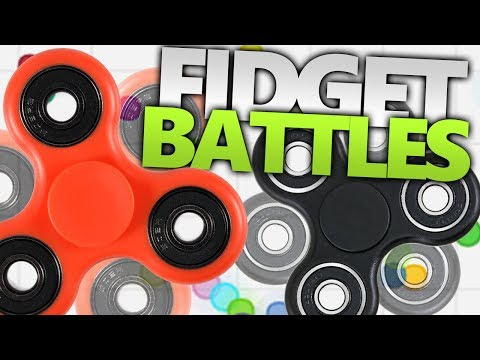 FIDGET SPINNER BATTLES!!! | Spinz.io Gameplay (BEYBLADES WITH FIDGET SPINNERS?!)
