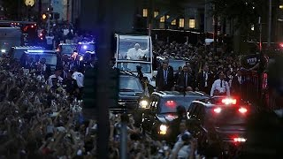 Le pape François accueilli comme une star à New York