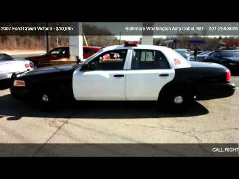 2007 ford crown victoria police interceptor for sale in hanover md 21076 youtube. Black Bedroom Furniture Sets. Home Design Ideas