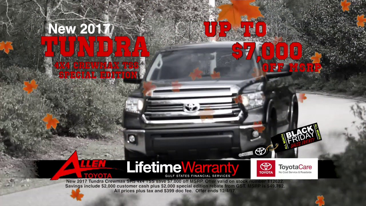 Tundra Deals 2017 Black Friday S Event Allen Toyota