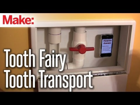 Father Builds Pneumatic Transport Tooth Fairy System for His Kids