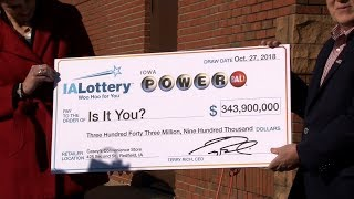 Powerball Jackpot-Winning Ticket Sold in Redfield, Iowa!