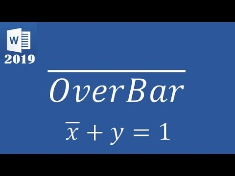 Video tutorial cara membuat x-bar (simbol mean) pada microsoft word, power point, dan excel.