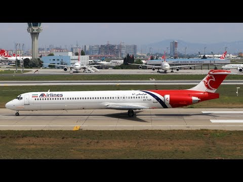 *EXTREME RARE* ATA Airlines McDonnell Douglas MD-82 Takeoff @ Istanbul Ataturk Airport