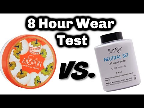 Coty Airspun Loose Face Powder VS Ben Nye Colorless Face Powder | Demo & Review Of 8 Hour Wear Test!