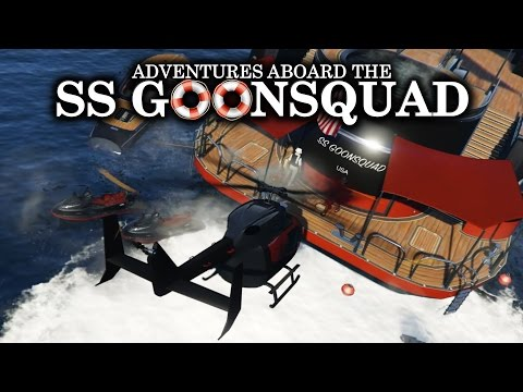 "GTA 5: ADVENTURES ABOARD THE SS GOONSQUAD! ""FUNNY MOMENTS & FAILS"""
