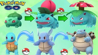 Blastoise + Venusaur Completed Evolves w/ Pokemon Go Legenday Epic Gym Battle