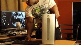 hp envy 750 170se dt gtx980 ti gaming desktop pc unboxing overview