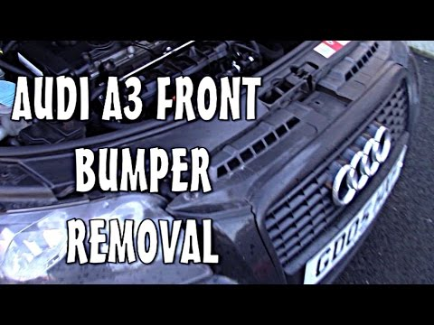 Audi A3 Front bumper Replace Change
