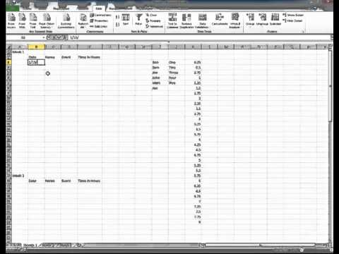 Create Microsoft Excel 2010 Tracking Sheet Youtube