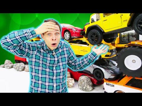 Видео игры – Трансформеры и Фёдор строят стену из машинок! – Новые видео для мальчиков.