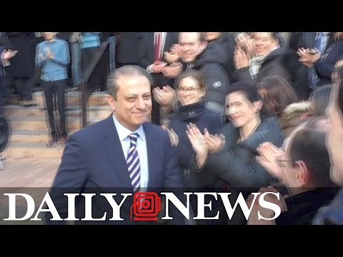 Preet Bharara leaves work for the last time