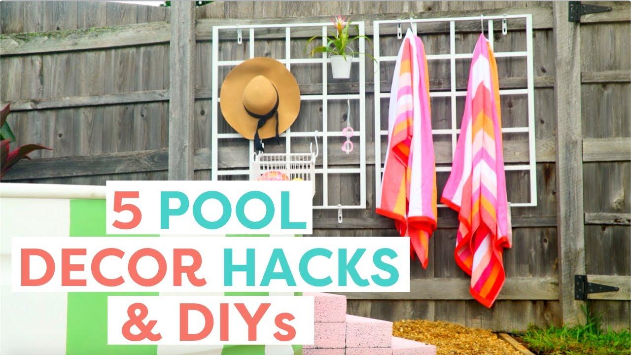 Make These 5 Pool Decor DIYs & Hacks | Outdoor Summer Hacks