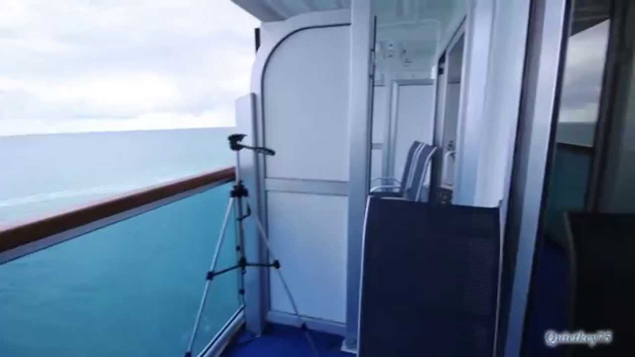 Emerald princess balcony tour l251 2015 youtube for Balcony translate