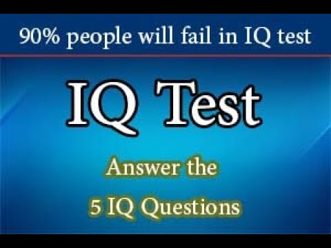 IQ Questions | IQ Test | Check your Intelligence level (5 Questions)