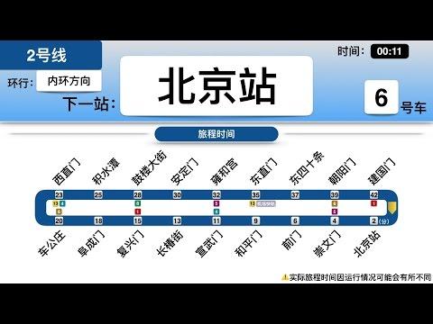 Beijing Subway Line 2 DIY Announcement Display | Loop Service