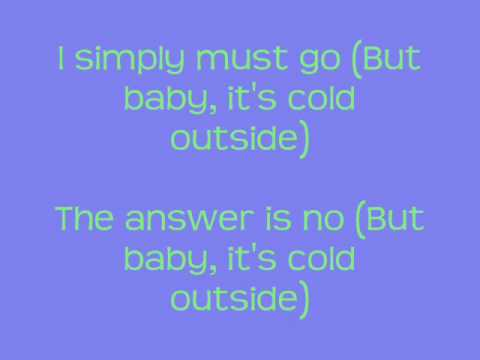 Glee Baby It's Cold Outside Lyrics