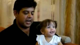 Cute Pakistani baby girl acting..