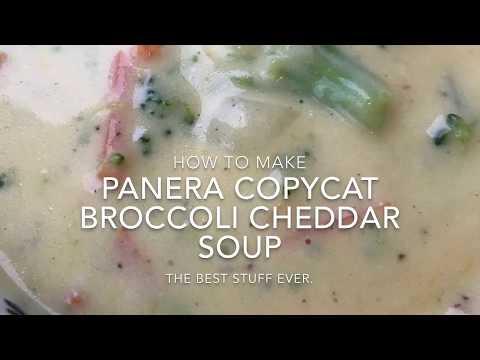 Panera Copycat Broccoli Cheddar Soup - How To Make Panera's Broccoli And Cheddar Soup