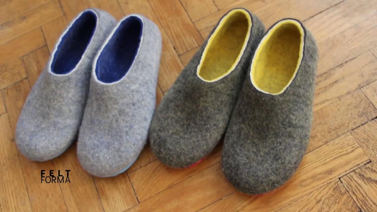 0de5f80175052 Wool Felted Slippers (for Men and Women ) FELT FORMA