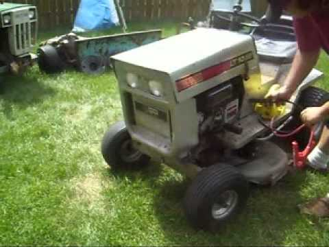 Cold Start 1980 Sears Lt10 36 Tractor Youtube