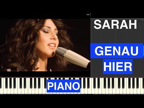 Sarah - Genau hier - Piano Cover