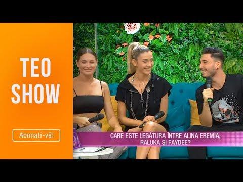 Teo Show (26.07.) - Alina Eremia, Raluka si Faydee, veste de zile mari! Ce legatura este intre ei?