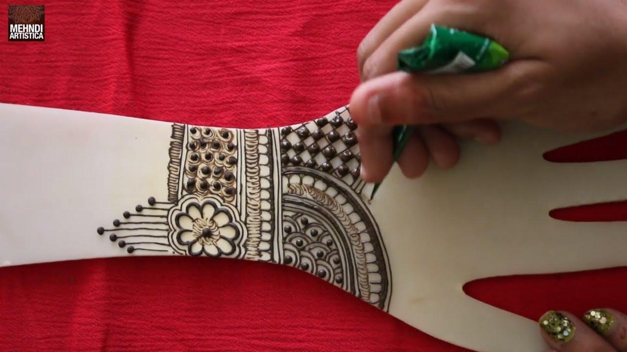 so good & easy henna mehndi design for karwachauth    learn mehendi designs for hand    diwali henna