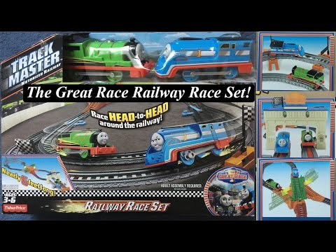 Thomas and Friends Toy Train Set-Trackmaster Great Race Thomas and Percy's Railway Race Set!