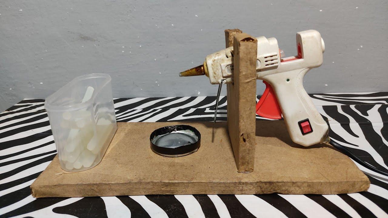 كيفيه صنع حامل مسدس الشمع السيليكون من الكرتون   How To Make A Silicone Gun Holder From Cardboard