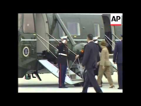WRAP Bush Returns From Texas, Adds White House Arrival