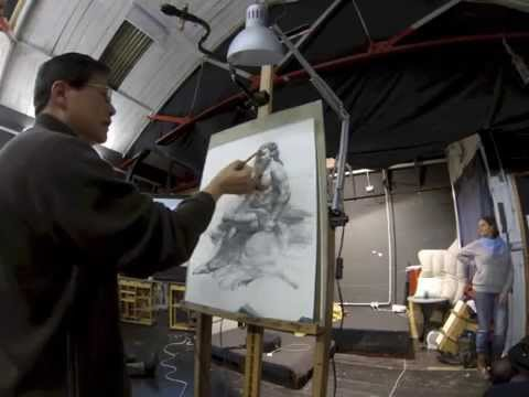 Henry Yan Drawing Demonstration At London England